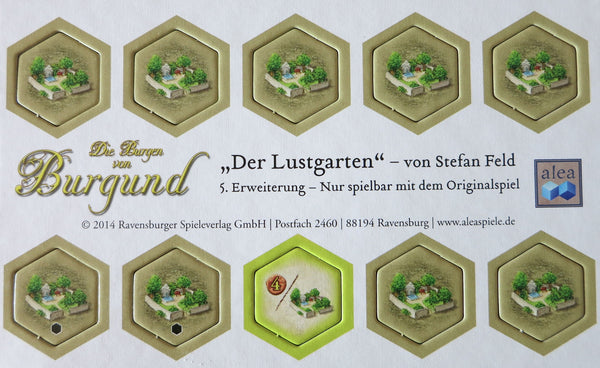 The Castles of Burgundy: 5th Expansion - Pleasure Garden
