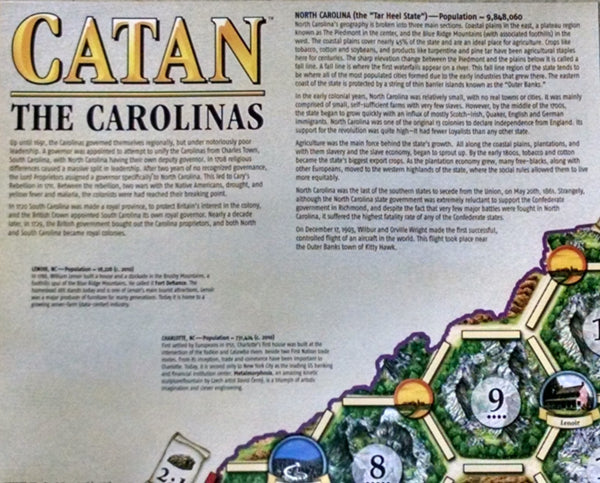 Catan Geographies: The Carolinas