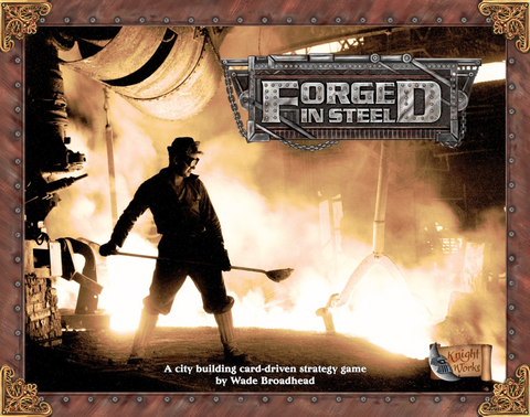 Forged in Steel (Kickstarter Edition - Blue Rules Card + 1 Metal 4 Sided Dice + Companion Guide)