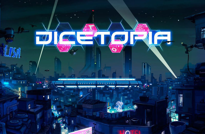 Dicetopia (Includes Solo, Faction and Meeple Pack)