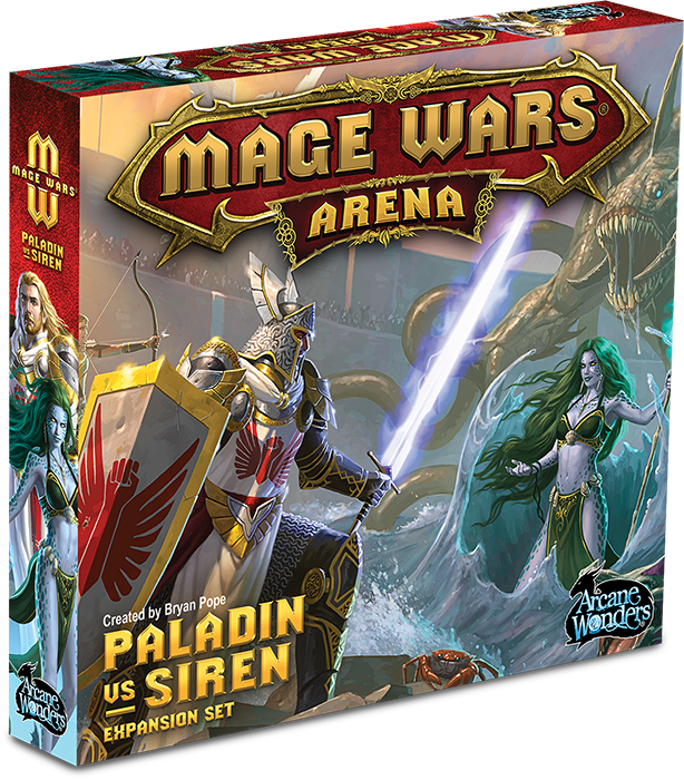 Mage Wars Arena: Paladin vs Siren Expansion Set