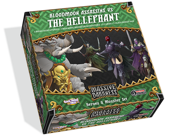 Massive Darkness: Heroes & Monster Set - Bloodmoon Assassins vs The Hellephant