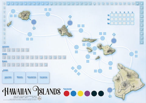 Age of Steam Expansion: Hawaiian Islands