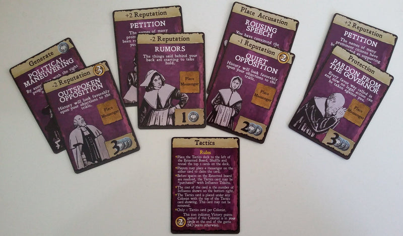 AFFLICTION: Salem 1692 – Tactics Card Add-on Pack