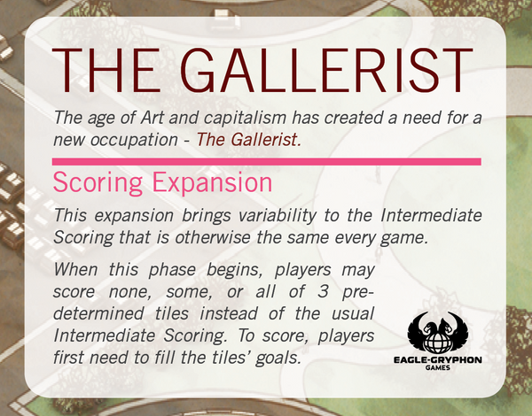 The Gallerist: Scoring Expansion