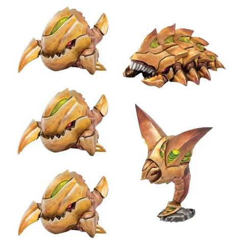 Monsterpocalypse Miniatures Game: Planet Eaters Unit - Chompers, Destructomite, & Explodohawk