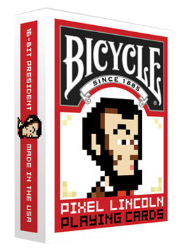 Pixel Lincoln: Bicycle Playing Cards