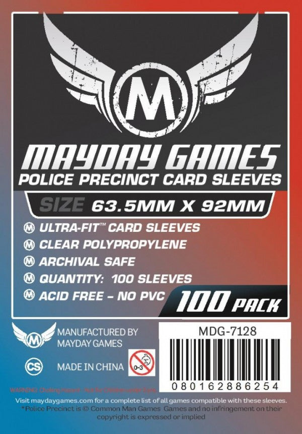 "Mayday - Custom ""Police Precinct"" Sized Card Sleeves"