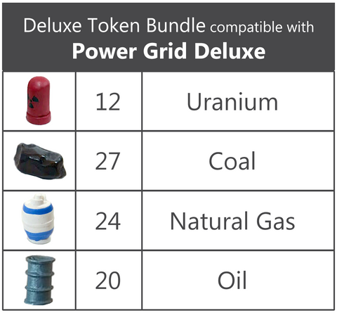 Deluxe Token Bundle compatible with Power Grid (For Deluxe Power Grid)