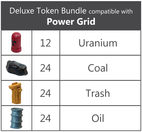 Deluxe Token Bundle compatible with Power Grid (For Non-Deluxe Power Grid)