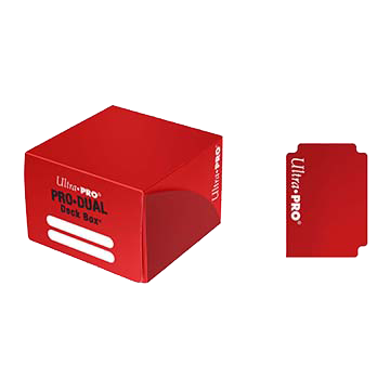 PRO Dual Standard Red Deck Box (180)