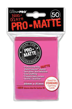 Ultra Pro Card Sleeves - Pro-Matte Bright Pink (50)