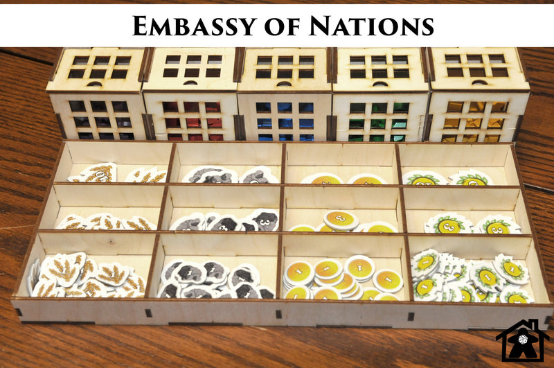 Meeple Realty - Embassy of Nations (compatible with NATIONS™)