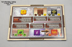 Meeple Realty - Terraforming Colony (Compatible with TERRAFORMING MARS™) - Terraforming Colony (Five plexiglass overlay components for player boards only)