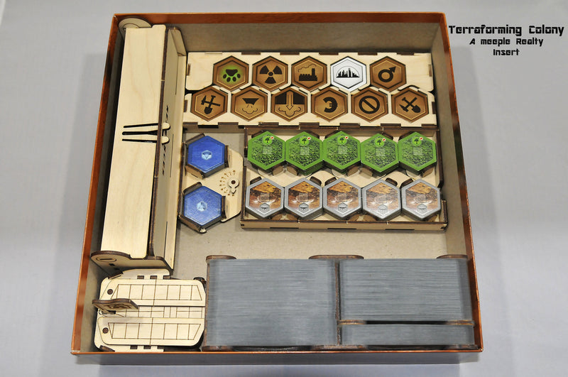 Meeple Realty - Terraforming Colony Full Insert (Compatible with TERRAFORMING MARS™ Second Edition)