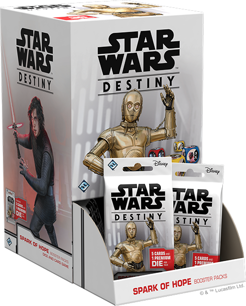 Star Wars: Destiny – Spark of Hope Booster Display