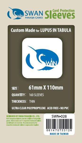 Swan - Card Sleeves (61 x 110 mm) - 160 Pack, Thin Sleeves