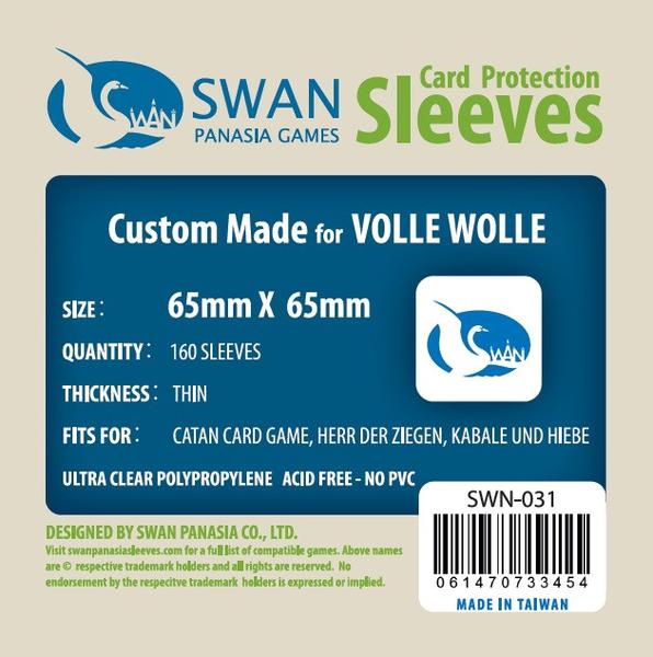 Swan - Card Sleeves (65 x 65 mm) - 160 Pack, Thin Sleeves