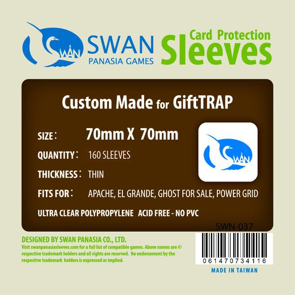 Swan - Card Sleeves (70 x 70 mm) - 150 Pack, Thin Sleeves