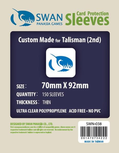 Swan - Card Sleeves (70 x 92 mm) - 150 Pack, Thin Sleeves