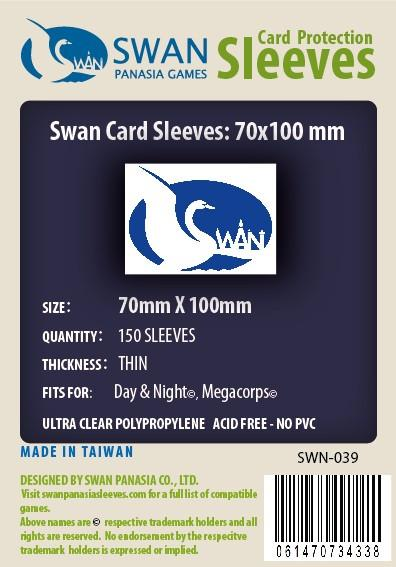 Swan - Card Sleeves (70 x 100 mm) - 150 Pack, Thin Sleeves
