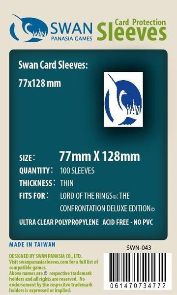 Swan - Card Sleeves (77 x 128 mm) - 100 Pack, Thin Sleeves - LOTR: the Confrontation Deluxe