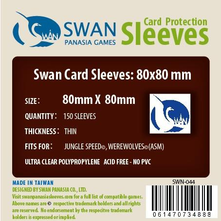 Swan - Card Sleeves (80 x 80 mm) - 150 Pack, Thin Sleeves