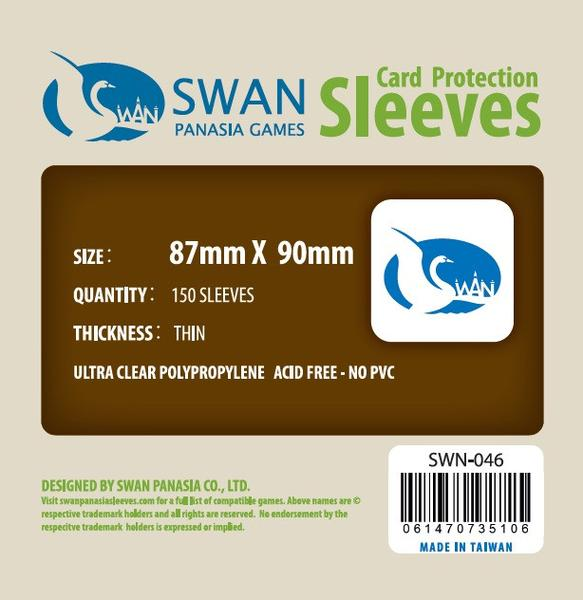 Swan - Card Sleeves (87 x 90 mm) - 150 Pack, Thin Sleeves