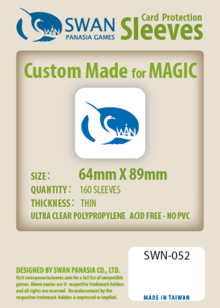Swan - Card Sleeves (64 x 89mm) - 160 Pack, Thin Sleeves