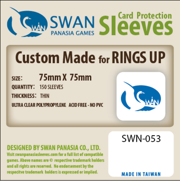 Swan - Card Sleeves (75 x 75mm) - 160 Pack, Thin Sleeves
