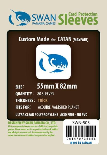 Swan - Card Sleeves (55 x 82 mm) - 80 Pack, Thick Sleeves