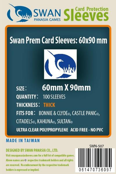 Swan - Card Sleeves (60 x 90 mm) - 100 Pack, Thick Sleeves