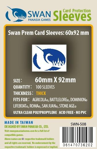 Swan - Card Sleeves (60 x 92 mm) - 100 Pack, Euro Thick Sleeves