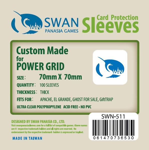 Swan - Card Sleeves (70 x 70 mm) - 100 Pack, Thick Sleeves