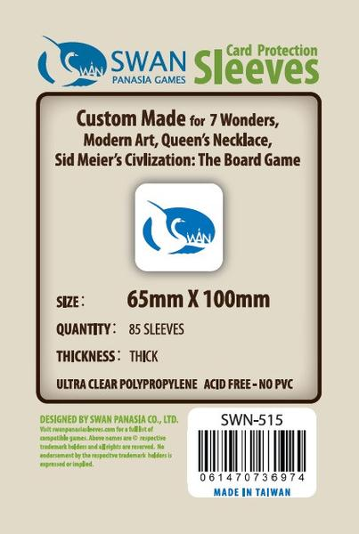 Swan - Card Sleeves (65 x 100 mm) - 85 Pack, Thick Sleeves
