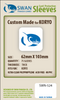 Swan - Card Sleeves (62  x 103 mm) - 75 Pack, Thick Sleeves