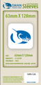 Swan - Card Sleeves (63  x 128 mm) - 50 Pack, Thick Sleeves