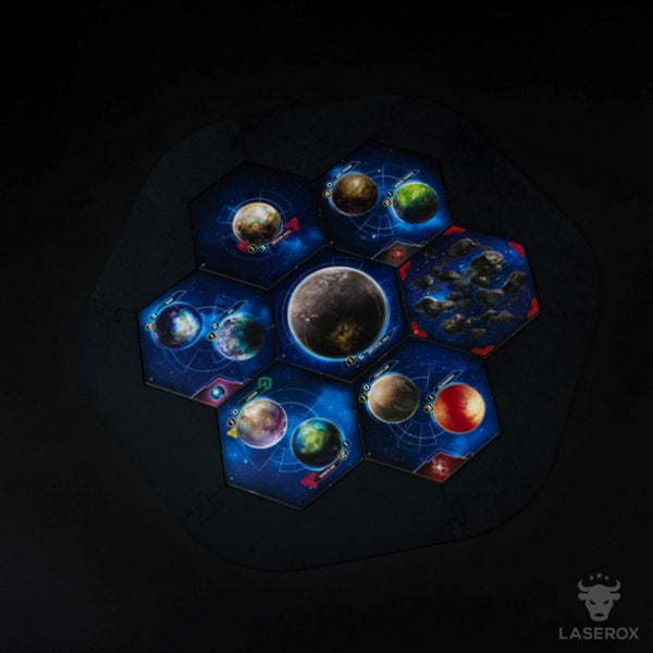 Laserox - Twilight Imperium Map Frame (Blue)
