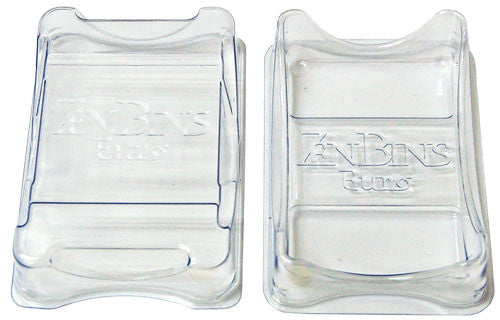 Zen Bins - Quick Draw Card Holder - Mini Euro (Clear)