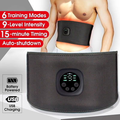 Intelligent Unisex USB Rechargeable EMS Fitness Trainer Belt