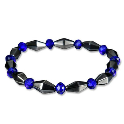 Slimming Round Black Stone Magnetic Therapy Bracelet For Men/Women