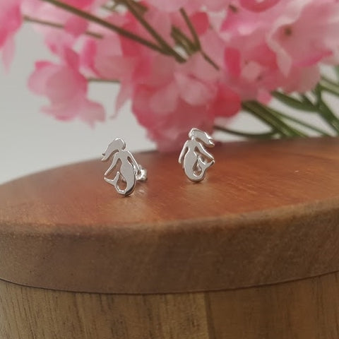 Mermaids Sterling Silver Stud Earrings