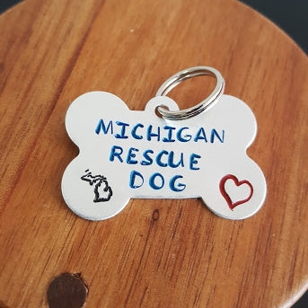 Michigan Rescue Dog Tag
