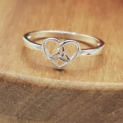 Celtic Heart Sterling Silver Ring