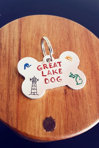 """GREAT LAKE DOG"" Dog Tag"