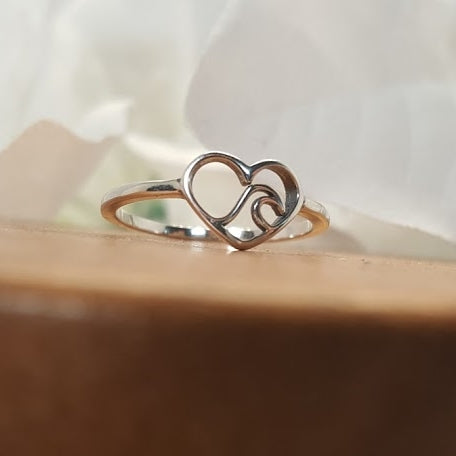 Waves of my heart Sterling Silver Ring