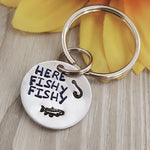 """Here Fishy Fishy"" Keychain"