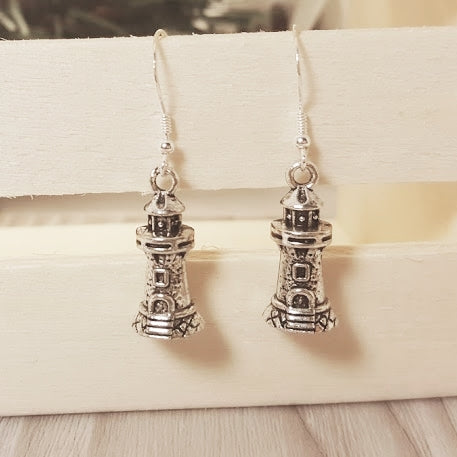 Lighthouse Sterling Silver Earrings