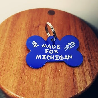 Made For Michigan Dog Tag