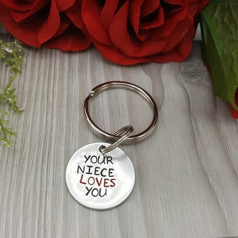 """Your niece/nephew/cousin Loves You"" Keychain (pick design)"